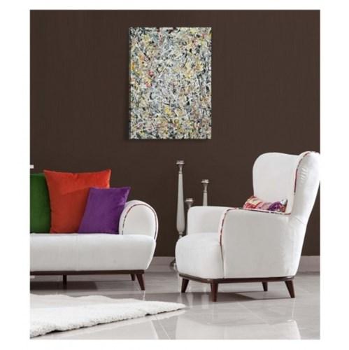 Jackson Pollock - White Light Kanvas Tablo 70x100 Cm